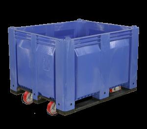 C40SBL1-C1 MACX Stackable 6 Inch Casters LS Solid Blue
